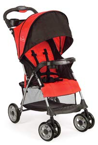 2. Kolcraft Fire Red Cloud Plus Lightweight Easy Fold Compact Travel Stroller