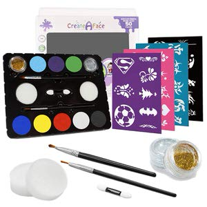 3. Create A Face  8 Vivid Colors Face Paint Kit for Parties