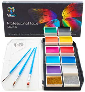 5. Artiparty Non-Toxic Face Paint Kit