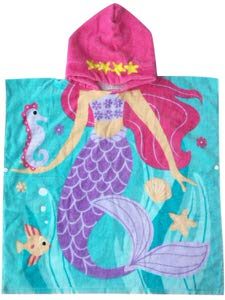5. Athaelay Mermaid Theme Hooded Towel for Girls