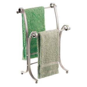 14. mDesign Decorative Towel Holder Stand