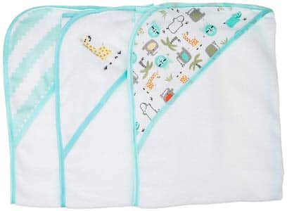 8. Buttons and Stitches 3 Piece Infant Hooded Towel