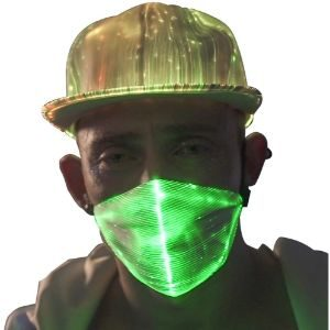 9. 1clienic 7 Colors LED Flash Light Up Rave Dust Mask USB