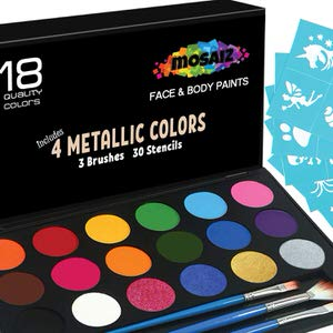 11. Mosaiz 18 Colors Face Paint Kit