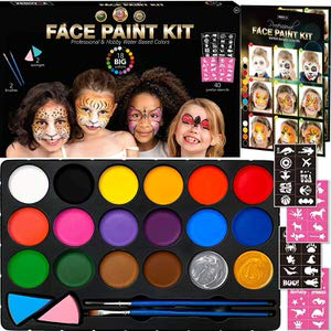 9. Zenovika 18 Paints Face Paint]