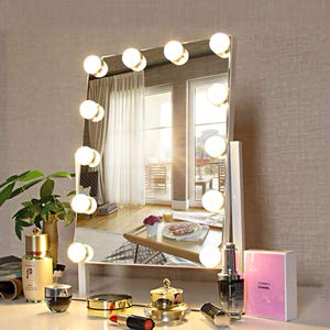 9.FENCHILIN White Vanity Makeup Mirror