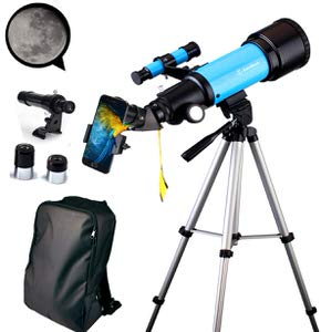13. EastPole 70mm Telescope for Beginners and Kids