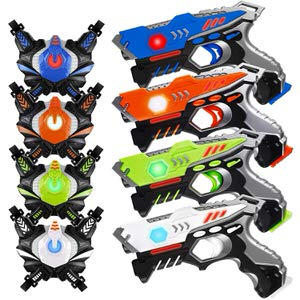11. HISTOYE Sets of 4 Players Infrared Laser Tag Guns