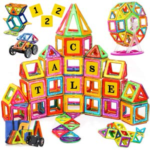 13. SVOC 122 PCS Magnetic Tiles for Boys and Girls