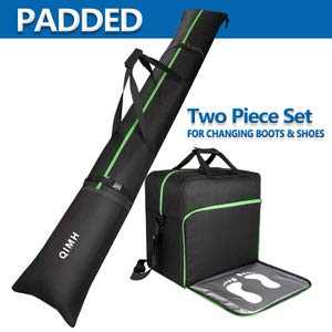 11. QiMH Padded Ski Bag & Boot Bag Combo