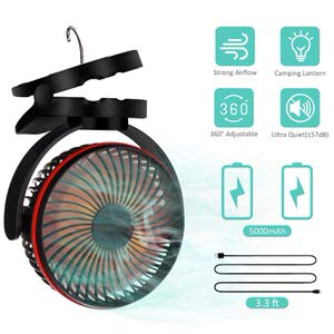 9. AMZGO LED Camping Lantern with Tent Fan
