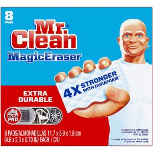 2. Mr Clean Magic Eraser Extra Durable, Cleaning Pads with Durafoam, 8 Count (Pack of 1) Box (Packaging May Vary)