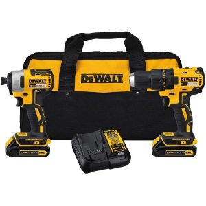 3. DEWALT DCK277C2 20V MAX Compact Brushless Drill and Impact Combo Kit