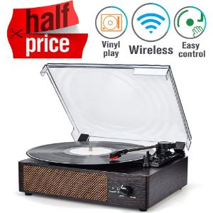 3. WOCKODER Portable Record Player