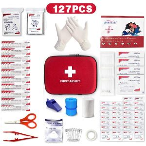 1- 127Pcs Mini Compact Small First Aid Kit