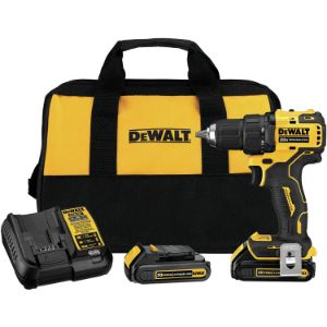 11. DEWALT DCD708C2 Atomic 20V Max Lithium-Ion Brushless Cordless Compact 1/2 Inch Drill Driver Kit