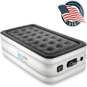 13. SereneLife Twin Air Mattress with Built-in Pump
