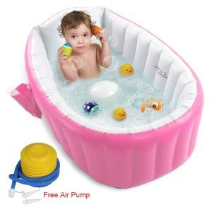 5. FLYMEI Upgraded Inflatable Baby Bathtub