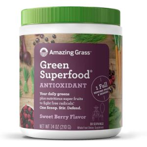 2. Amazing Grass Antioxidant Sweet Berry Superefood Powder