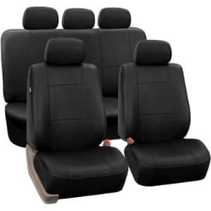 3. FH Group PU002BLACK115 Leather Seat Covers
