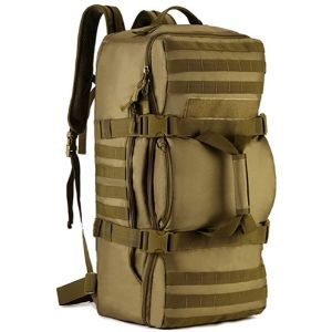14. BAIGIO Brown Tactical Military Duffle Bag