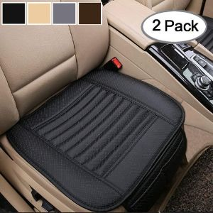 2. Big Ant Black Leather Seat Covers