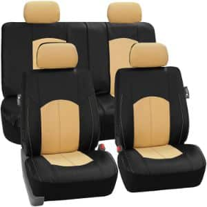 5. FH Group PU008114 Leather Seat Covers