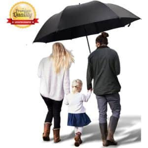 10. TEASTAR Black Large Umbrella