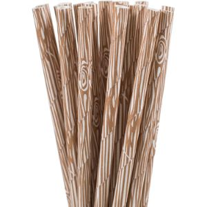 7. Eve's Party Market Wooden Paper Straw