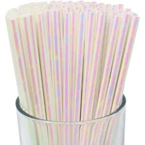 8. Just Artifacts Iridescent Paper Straws