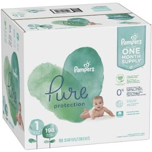 9. Pampers Pure Protection Size 1 Organic Diaper