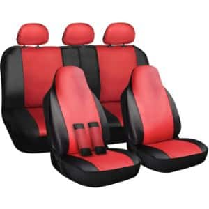 14. OxGord 10 Pieces Set of Leather Seat Cover