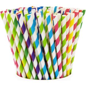 2. Comfy Package Assorted Color Paper Straws