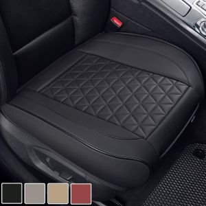 1. Black Panther Luxury Leather Seat Covers