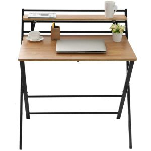 7. Mefedcy Furniture Khaki Folding Computer Desk