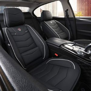 13. Inch Empire Black and White Full Set Leather Seat Cover