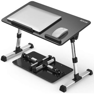 6. BESIGN Medium Black Folding Computer Desk