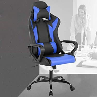 Gaming Office Chair, High-Back Racing Chair PU Leather Chair by BestMassage: