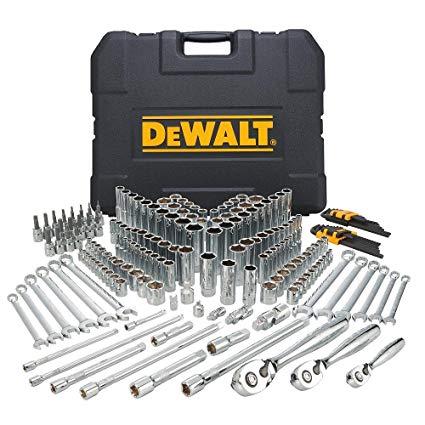 10 DEWALT DWMT72165 204 Piece Mechanics Tool Set: