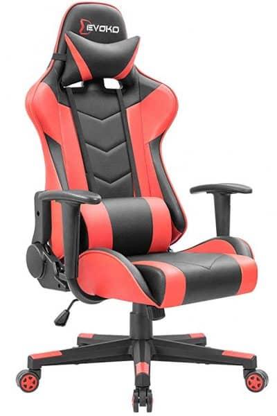 Devoko Ergonomic Gaming Chair Racing Style Adjustable Height High-Back PC Computer Chair: