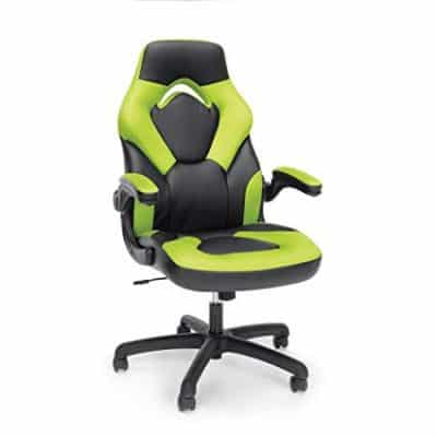 Essentials Racing Style Leather Gaming Chair - Ergonomic Swivel Computer, Office or Gaming Chair: