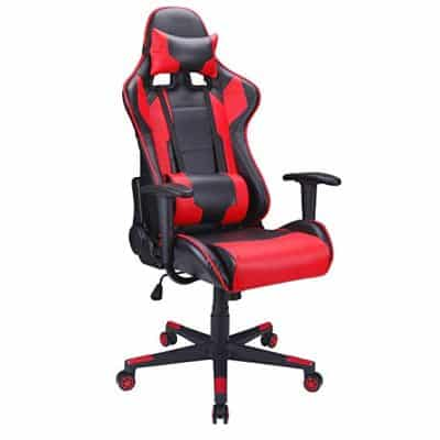 Polar Aurora Gaming Chair Racing Style High-Back PU Leather Office Chair: