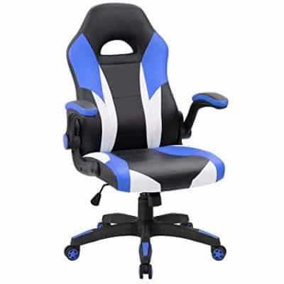 20. JUMMICO Gaming Chair Ergonomic Leather Racing Computer Chair: