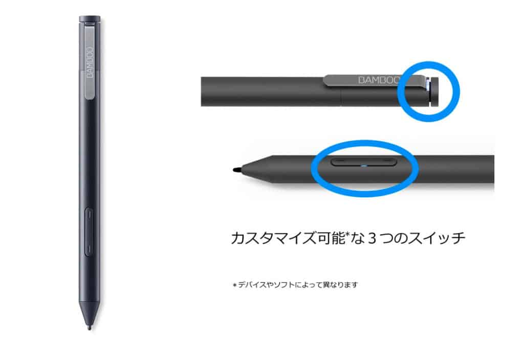 Wacom Bamboo Ink Smart Stylus Black Active Touch Pen Stylus