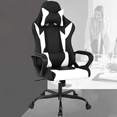 Racing Office Chair, High-Back PU Leather Gaming Chair by BestOffice:
