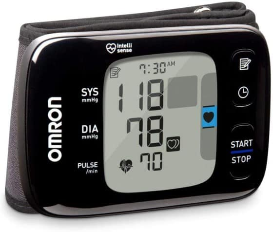 Wrist Blood Pressure Monitor OMRON Wireless and Accessible With Smartphones