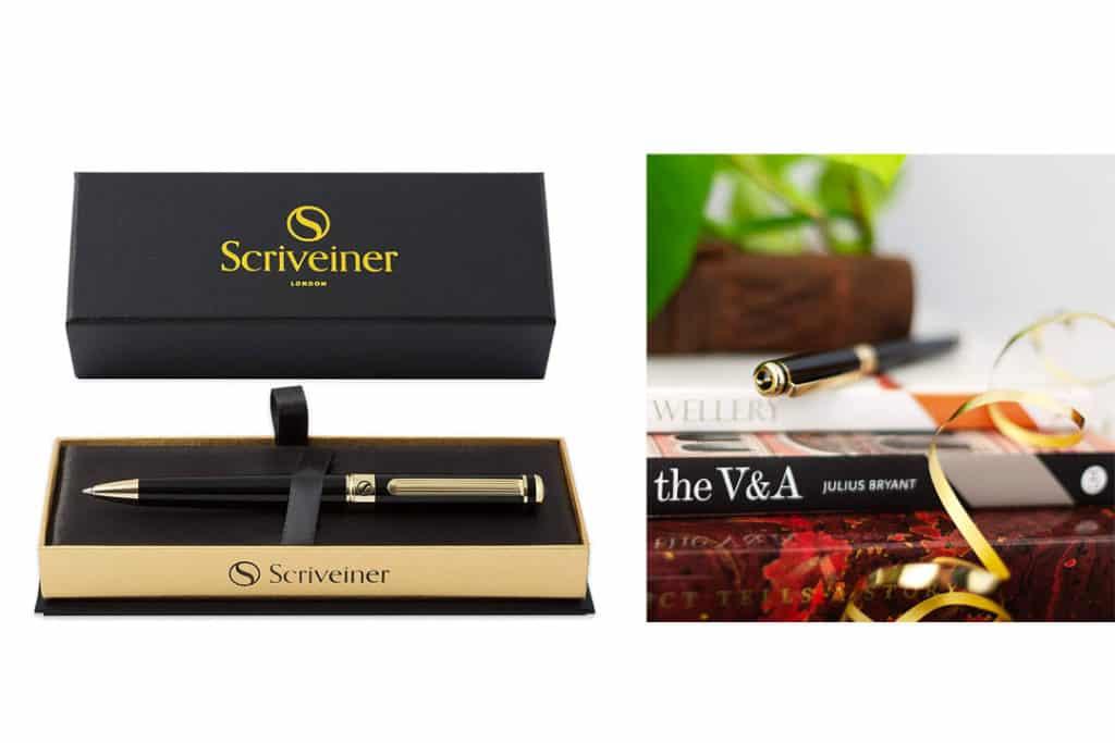 Black Lacquer Ballpoint Pen Scriveiner