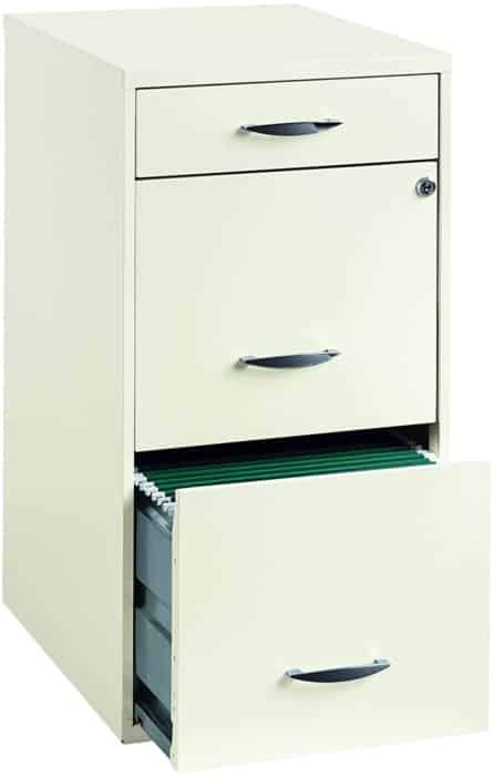 3-Drawer File Cabinet With Lock With Deep Drawer Steel