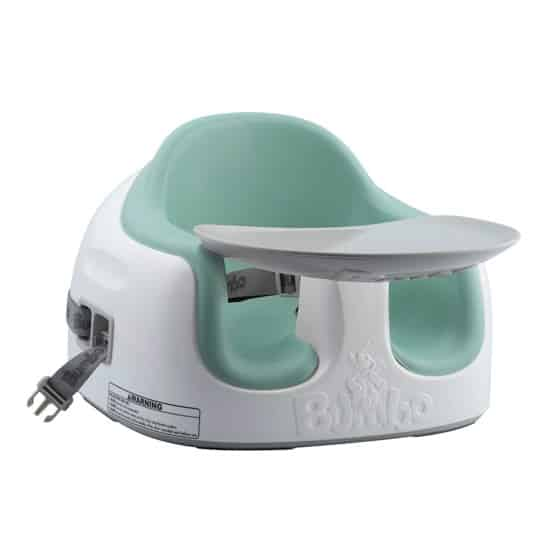 Green Bumbo with Tray: Deluxe