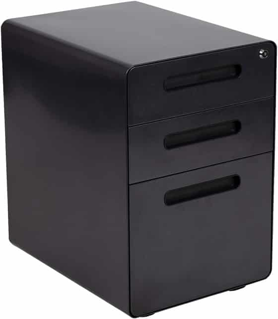 3-Drawer File Cabinet Plastic From the Flash Furniture Store